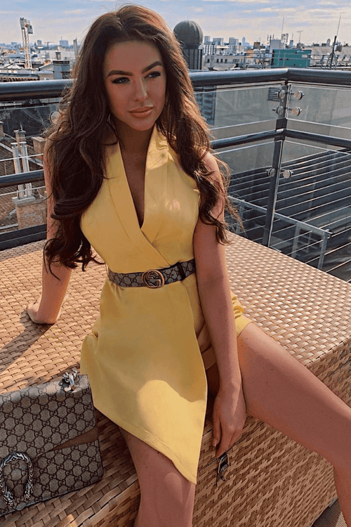 Yellow Belted Playsuit
