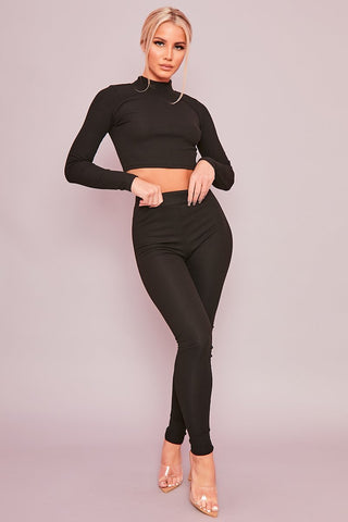 Black Chunky Knit Co-Ord
