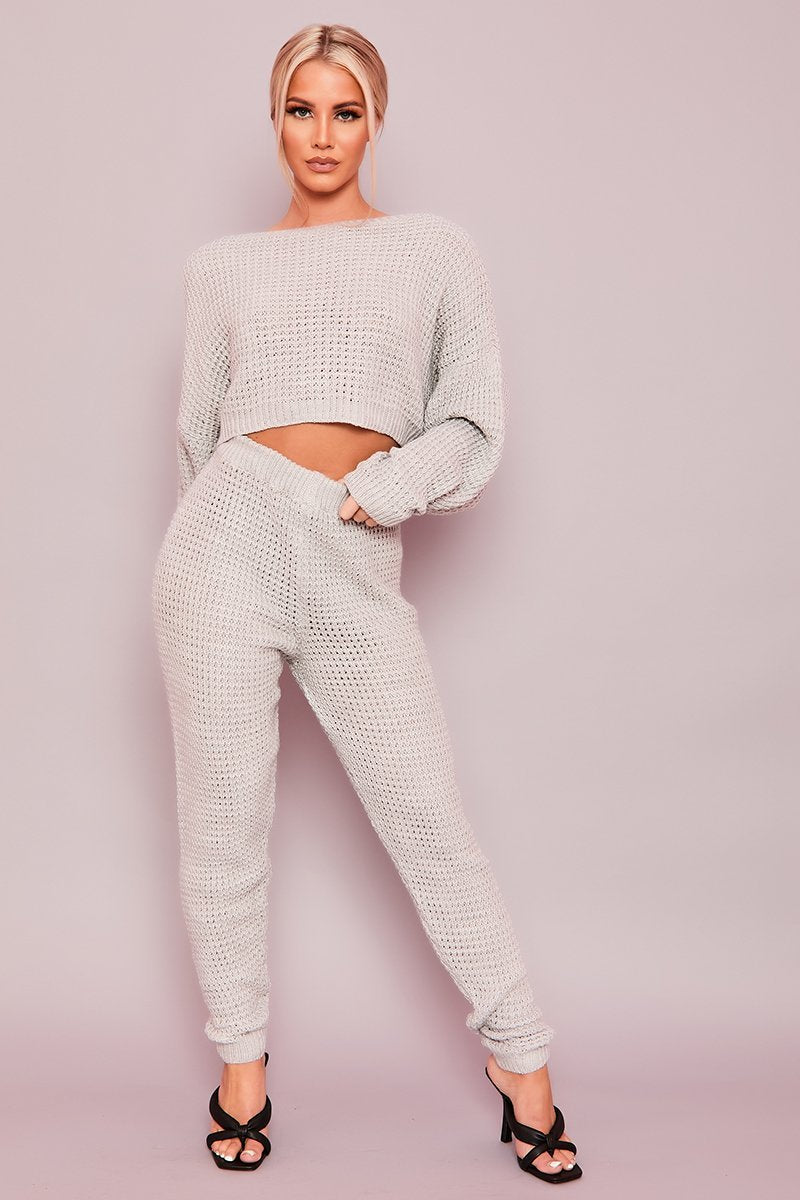 Grey Chunky Knit Co-Ord - Eleanor - KATCH ME