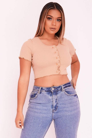 Grey Tailored Belted Shorts & Buckle Strap Crop Top Co-ord