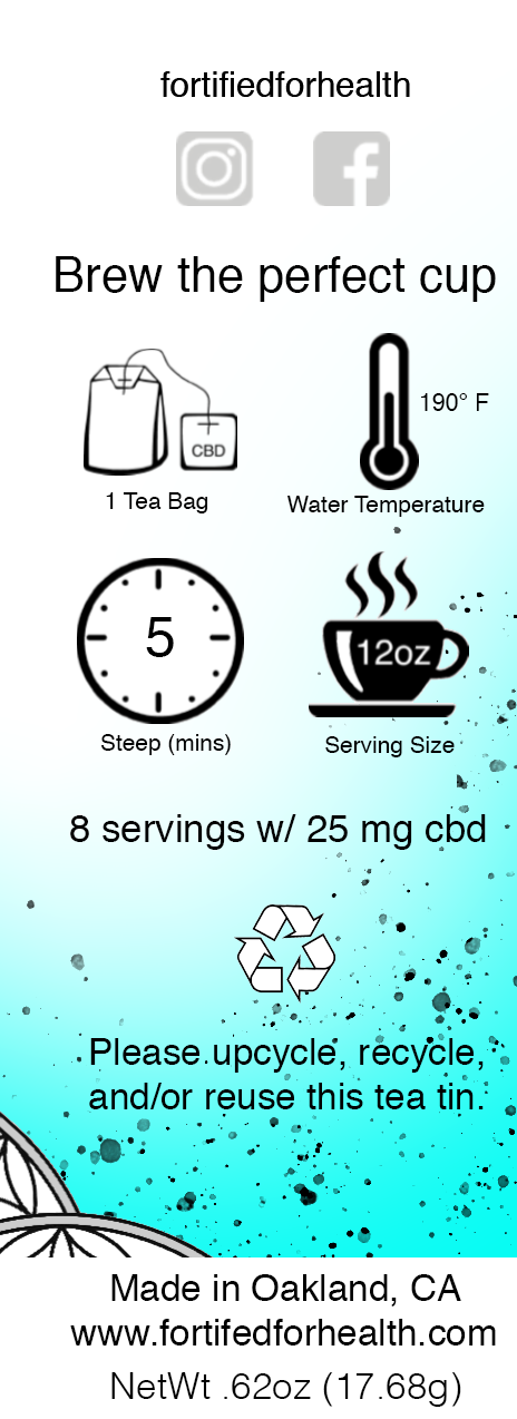 Chamomile Tea w/ 250mg CBD – Fortified For Health