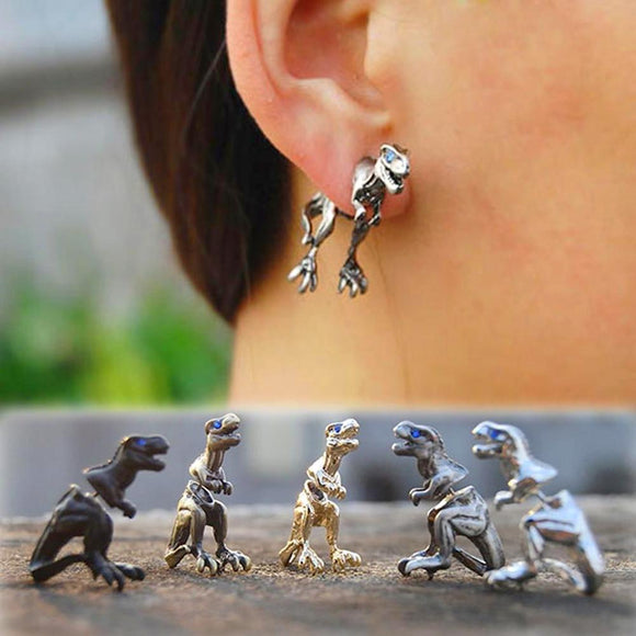 Cool Punk Rock Dinosaur Earrings - Love Touch Jewelry