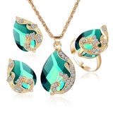Crystal Peacock Jewelry Sets - Love Touch Jewelry