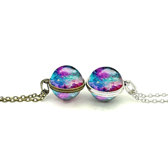 Double-sided Universe Necklace - Love Touch Jewelry