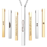 Stainless Steel Bar Engraving Personalized Name Logo Necklace - Love Touch Jewelry