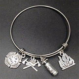 Firefighter Wire Bangle - Love Touch Jewelry