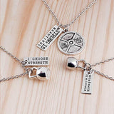 Fitness Gym dumbbell necklace Pendant - Love Touch Jewelry