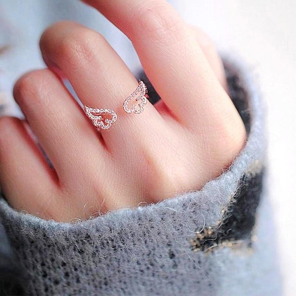 Adjustable Angel Wings Ring - Love Touch Jewelry