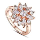 Luxury Plated Multi Color Flower Ring - Love Touch Jewelry