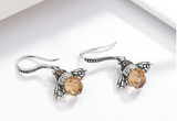 Adorable Bee Drop Earrings (Genuine 925 Sterling Silver) - Love Touch Jewelry