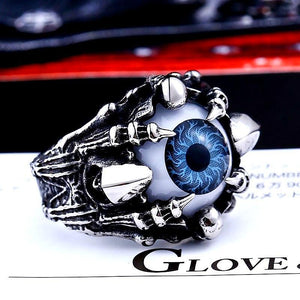 Punk Rock Claw Evil Eye Ring - Love Touch Jewelry