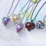 Angel Wings Heart Swarovski Crystal Pendant Necklace - Love Touch Jewelry