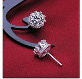 Classic Crown Stud Earrings (Genuine 925 Sterling Silver) - Love Touch Jewelry