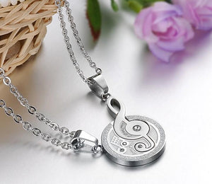 Musical Note Stainless Steel Couple Necklace - Love Touch Jewelry