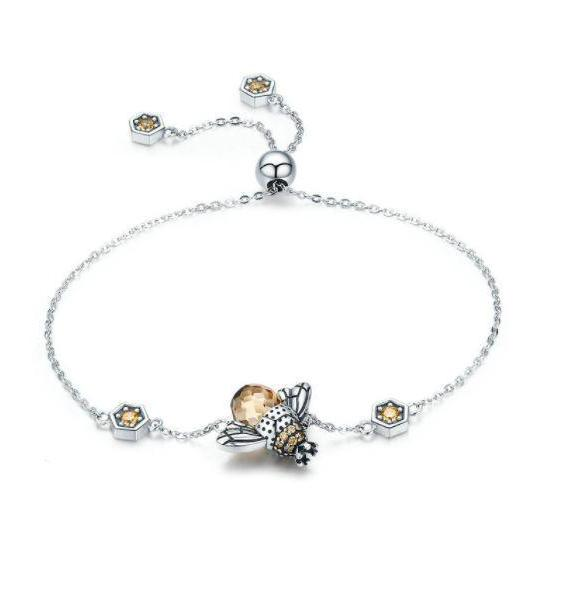 Adorable Bee Chain Bracelet (Genuine 925 Sterling Silver) - Love Touch Jewelry
