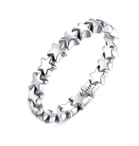 Star Trail Stackable Ring (Genuine 925 Sterling Silver) - Love Touch Jewelry