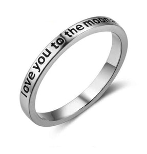 I Love You To The Moon & Back Ring (Genuine 925 Sterling Silver) - Love Touch Jewelry