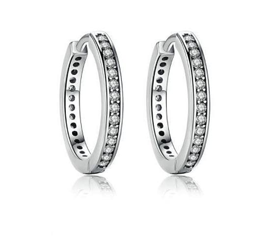Simple Everyday Hoop Earrings (Genuine 925 Sterling Silver) - Love Touch Jewelry