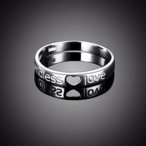 "Engraved ""Endless Love"" Ring (Genuine 925 Sterling Silver) - Love Touch Jewelry"