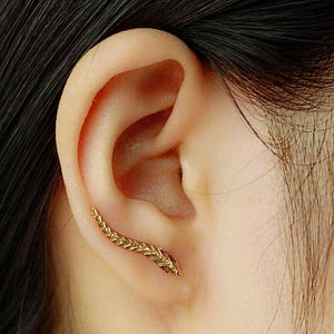 Elegant Feather Stud Earrings (2 pairs) - Love Touch Jewelry