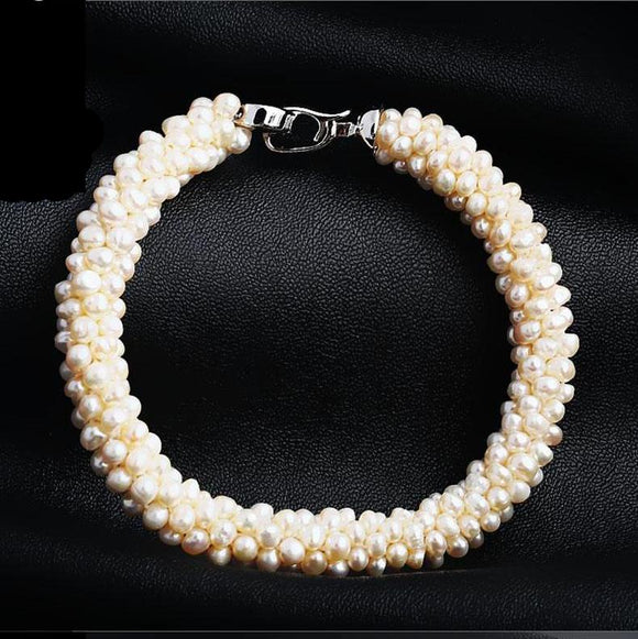 Beautiful Freshwater Pearls Beaded Buckle Bracelets - Love Touch Jewelry