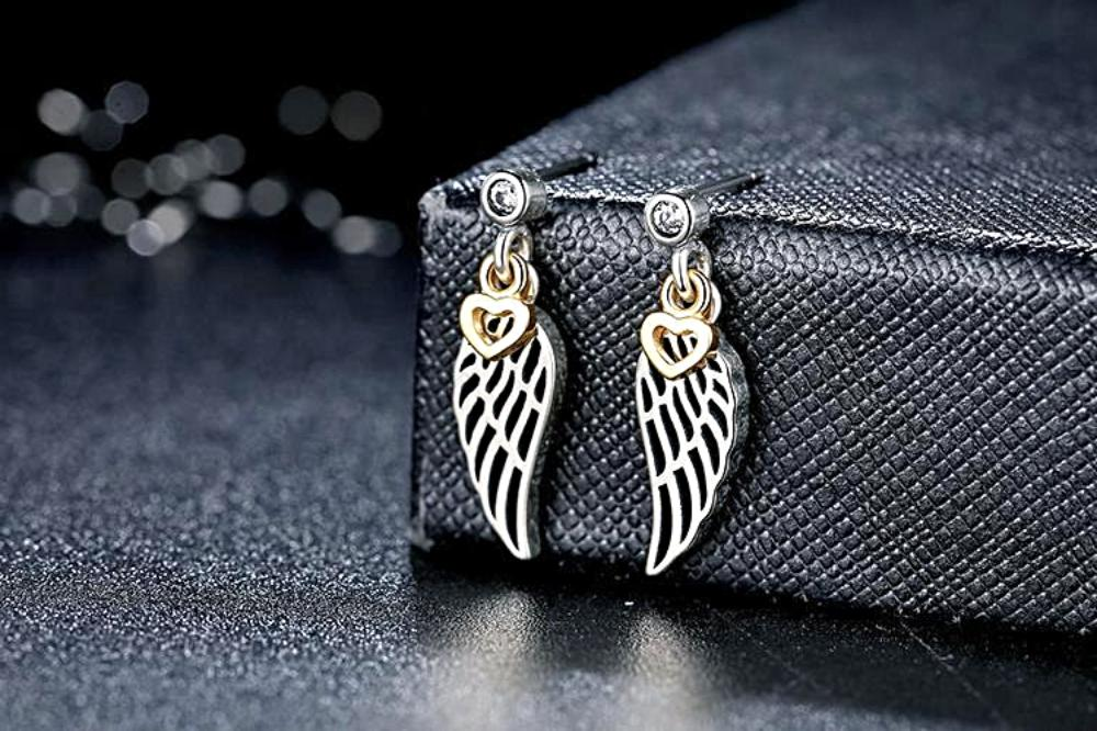 d75e1b627 Love & Guidance Feather Drop Earrings (925 Sterling Silver) - Love Touch  Jewelry ...
