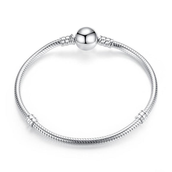 Luxury DIY Charm Bracelet Bangle (AAAA Genuine 925 Sterling Silver) - Love Touch Jewelry