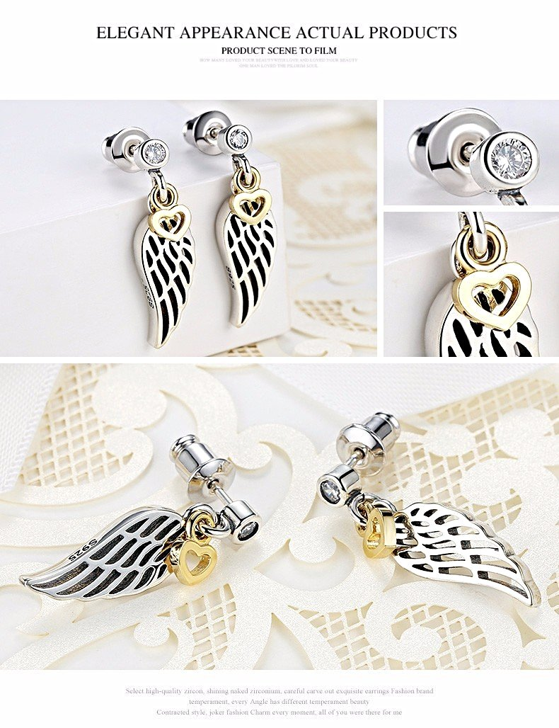 ff4147172 ... Love & Guidance Feather Drop Earrings (925 Sterling Silver) - Love  Touch Jewelry ...