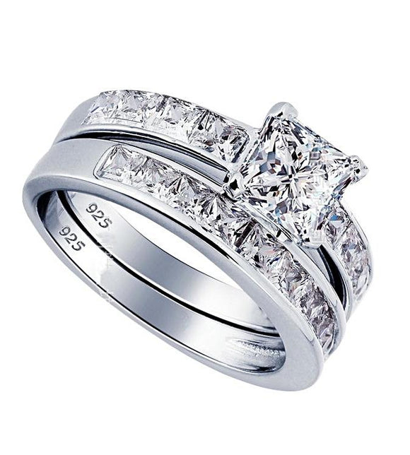 Lovely Bridal Groom Engagement Ring (925 Sterling Silver) - Love Touch Jewelry