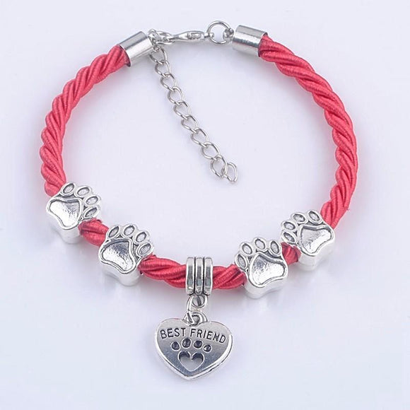 Hand-Woven Dog Paws Rope Bracelets - Love Touch Jewelry