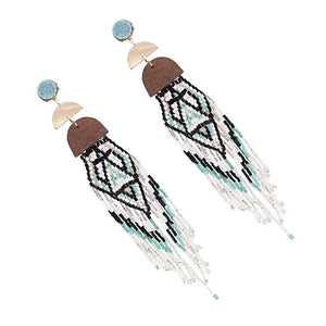 Bohemian Handmade Multicolor Beaded Tassel Earrings - Love Touch Jewelry