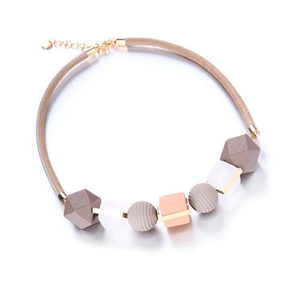 Handmade Wood Beads Statement Pendants Necklaces    - Love Touch Jewelry