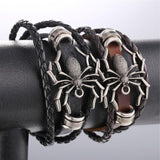 Multi-layer Handmade Genuine Leather Spider Wrap Bracelet - Love Touch Jewelry
