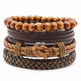 Weave vintage leather bracelet - Love Touch Jewelry