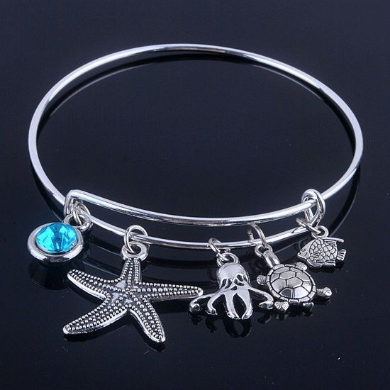 Fashion Sea Life Adjustable Bangle - Love Touch Jewelry