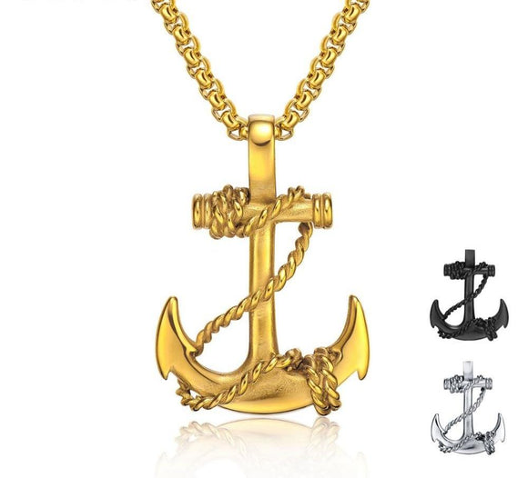 Chained Anchor Necklace For Man - Love Touch Jewelry
