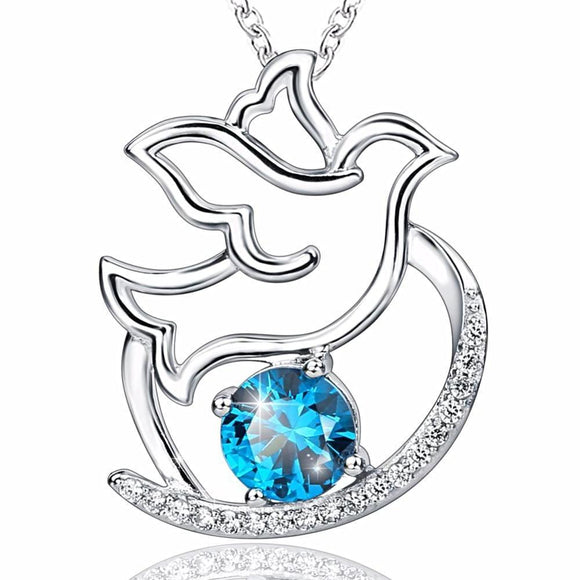 Dove Of Peace Pendant Necklace (Genuine 925 Sterling Silver) - Love Touch Jewelry