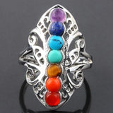 7 Chakra Healing Adjustable Ring - Love Touch Jewelry