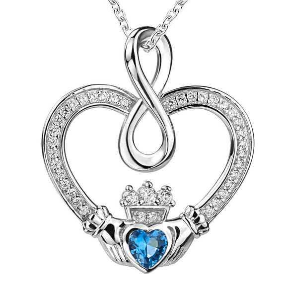 Infinite Knot Heart Pendant Necklace (Genuine 925 Sterling Silver) - Love Touch Jewelry