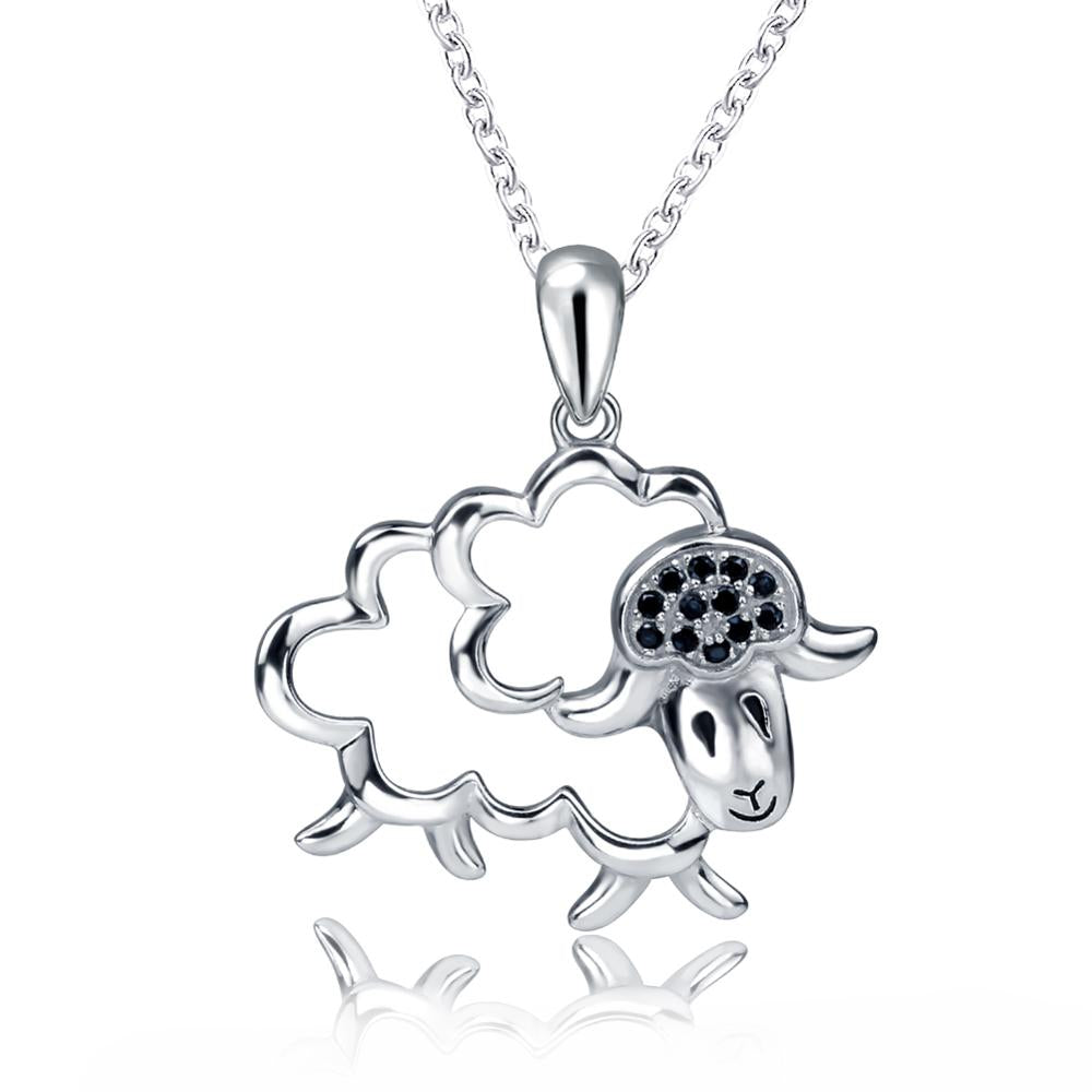 Adorable animal pendant necklace genuine 925 sterling silver adorable animal pendant necklace genuine 925 sterling silver love touch jewelry aloadofball Image collections