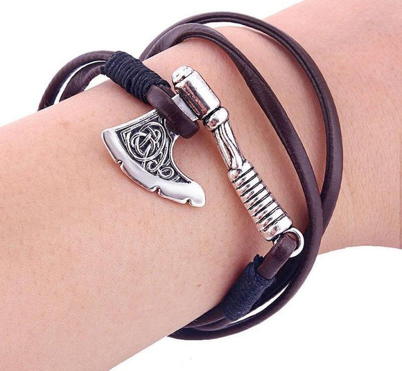 Ax Leather Bracelet For Man - Love Touch Jewelry