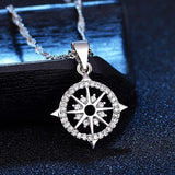 White Gold Color Plated Crystal Zircon Rudder Necklace - Love Touch Jewelry