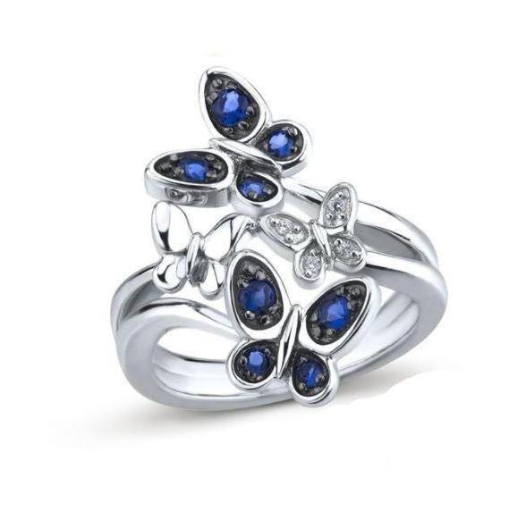 Elegant Mini Butterlies Ring (Genuine 925 Sterling Silver) - Love Touch Jewelry