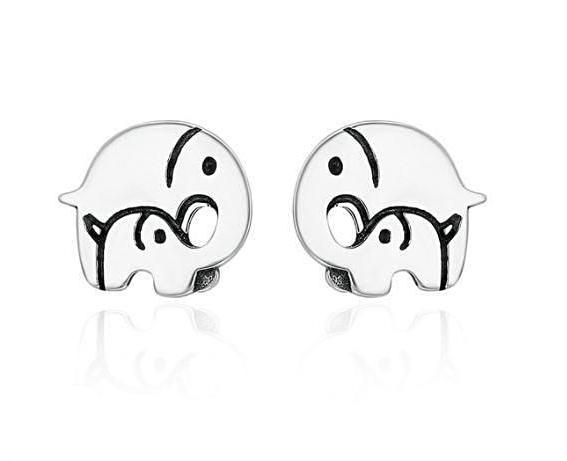 Adorable Mother & Child Elephant Stud Earrings (Genuine 925 Sterling Silver) - Love Touch Jewelry