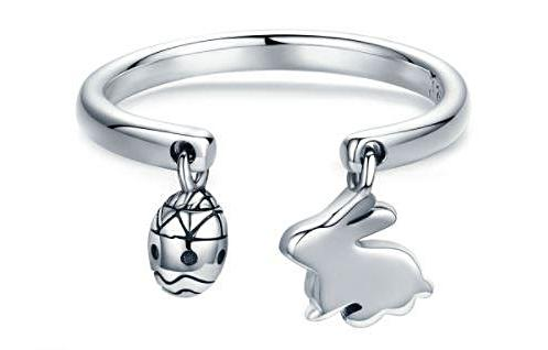 Easter Egg & Bunny Rings (Genuine 925 Sterling Silver) - Love Touch Jewelry