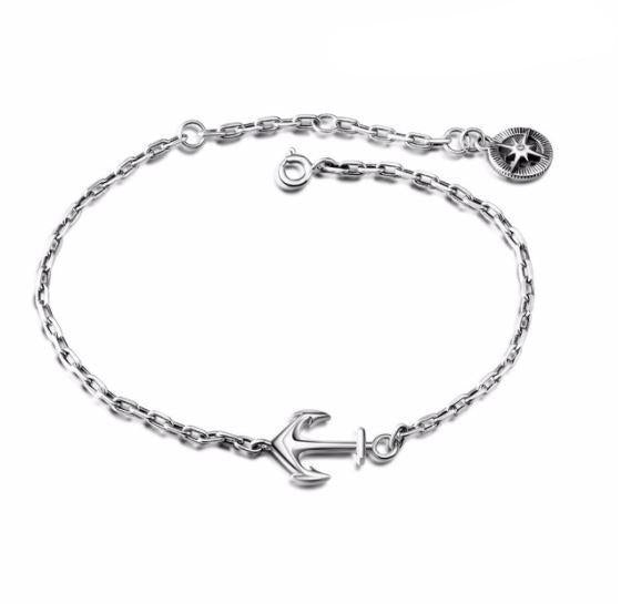 Trendy Anchor Charm Bracelet  (AAAA Genuine 925 Sterling Silver) - Love Touch Jewelry