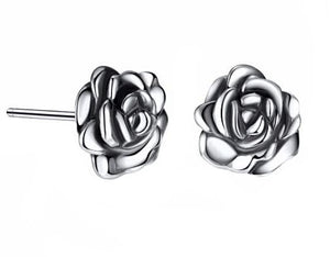 Elegant Rose Stud Earrings (AAAA Genuine 925 Sterling Silver) - Love Touch Jewelry