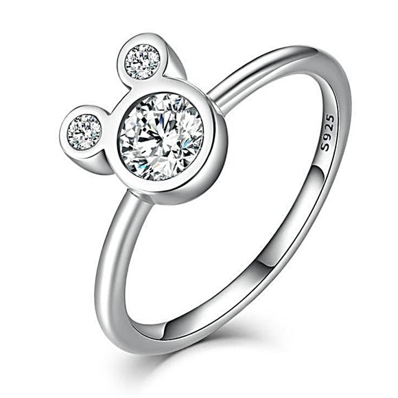 Cute Mickey Head Ring (Genuine 925 Sterling Silver) - Love Touch Jewelry