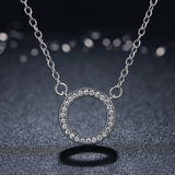 Elegant Radiant Circle Pendant Necklace (Genuine 925 Sterling Silver) - Love Touch Jewelry