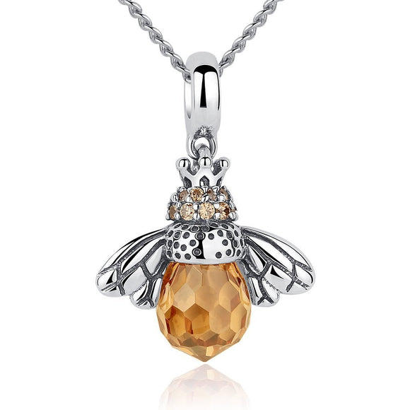 Adorable Bee Pendant Necklace (Genuine 925 Sterling Silver) - Love Touch Jewelry